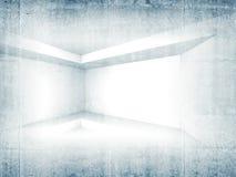 Abstract concrete 3d interior background Stock Photos