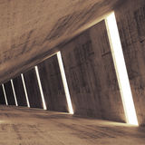 Abstract concrete 3d interior perspective with lights Stock Images
