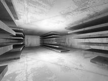 Abstract concrete empty dark room interior. Architecture backgro. Und. 3d render illustration Stock Image