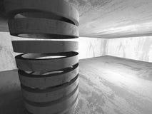 Abstract concrete empty dark room interior. Architecture backgro Stock Photo
