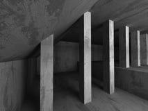 Abstract concrete empty dark room interior. Architecture backgro Stock Photos