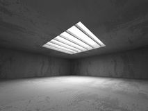 Abstract concrete empty dark room interior. Architecture backgro. Und. 3d render illustration Royalty Free Stock Photo