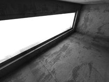 Abstract concrete empty room interior. Urban architecture backgr. Ound. 3d render illustration Stock Photo