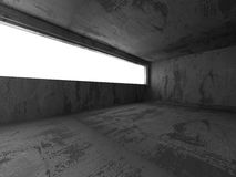 Abstract concrete empty room interior. Urban architecture backgr. Ound. 3d render illustration Royalty Free Stock Photo