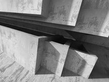 Abstract concrete geometric architecture background Stock Photo