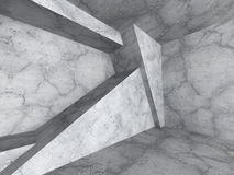 Abstract Concrete Geometric Construction Architecture Background. 3d Render Illustration Royalty Free Stock Image