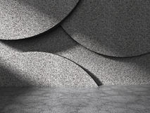 Abstract concrete geometric wall architecture background Royalty Free Stock Images