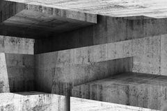 Abstract concrete interior background 3 d Stock Image