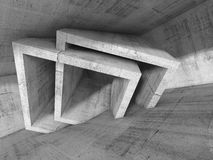 Abstract concrete interior with cubic structures Stock Images