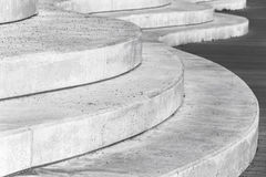 Abstract concrete interior, curved stairs Royalty Free Stock Photography