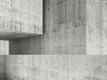 Abstract concrete interior, 3d illustration Stock Photo