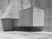 Abstract concrete interior fragment, 3d render Stock Image