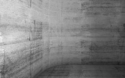 Abstract concrete interior with rounded corner 3d Stock Images
