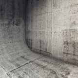 Abstract concrete interior with rounded edge 3d Royalty Free Stock Photos