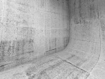 Abstract concrete interior with rounded edge Stock Photos
