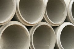 Abstract Concrete Pipes Stock Image