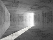 Abstract concrete room interior with light beam Stock Images