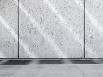 Abstract concrete room interior with shadow lines. Abstract concrete room interior with shadow pattern. 3d illustration Stock Image