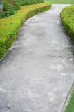 Abstract of concrete sidewalk and grass Stock Photo