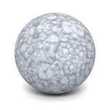Abstract Concrete Stone Sphere On White Background. 3d Render Illustration royalty free illustration