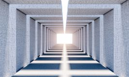 Abstract concrete tunnel Stock Image