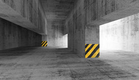 Abstract concrete urban parking interior. 3d illustration Royalty Free Stock Photo