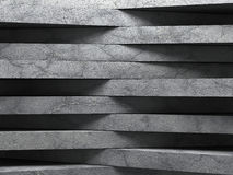Abstract concrete wall architecture background. 3d render illustration Stock Image