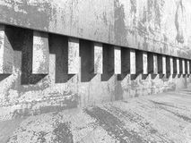 Abstract concrete wall architecture background Stock Photo