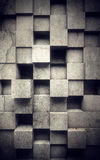 Abstract concrete wall. Abstract cubes on concrete wall Stock Photo