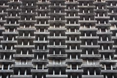 Abstract Concrete windows of building Stock Photo