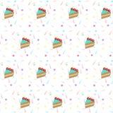 Abstract Confettien en cakepatroon Vectorconfettienachtergrond P Stock Afbeeldingen