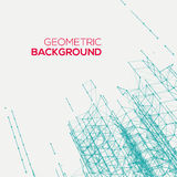 Abstract connect geometric background Stock Photo