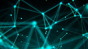 Abstract connection dots. Technology background. Digital drawing blue theme. Network concept. 3d rendered Royalty Free Stock Images