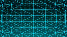 Abstract connection dots. Technology background. Digital illustration. Network concept Stock Photos