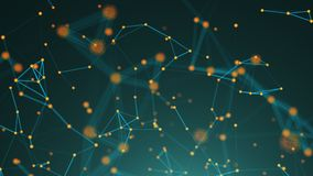 Abstract connection dots. Technology background. Digital illustration. Network concept Royalty Free Stock Photo