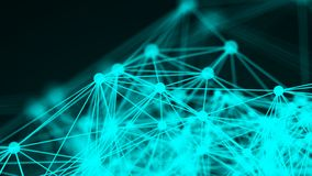 Abstract connection dots. Technology background. Network concept Royalty Free Stock Photography