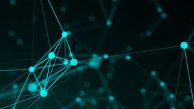 Abstract connection dots. Technology background. Network concept Stock Images