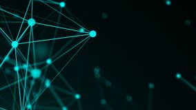 Abstract connection dots. Technology background. Network concept. 3d rendered Royalty Free Stock Photos