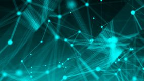 Abstract connection dots. Technology background. Network concept. 3d rendering Stock Images