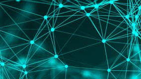 Abstract connection dots. Technology background. Network concept. 3d rendering Stock Photos