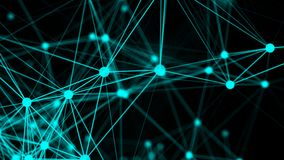 Abstract connection dots. Technology background. Network concept Stock Image