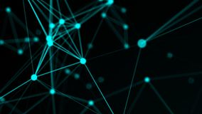 Abstract connection dots. Technology background. Network concept. 3d rendered Stock Photo