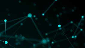 Abstract connection dots. Technology background. Network concept. 3d rendered Royalty Free Stock Image