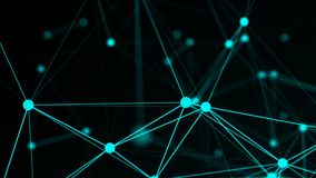 Abstract connection dots. Technology background. Network concept. 3d rendered Stock Photos