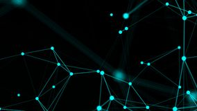 Abstract connection dots. Technology background. Network concept. 3d rendered Stock Photography