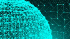Abstract connection dots. Technology background. Network concept. 3d rendering Stock Photo