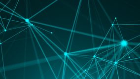 Abstract connection dots. Technology background. Network concept. 3d rendering Royalty Free Stock Images