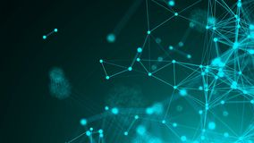 Abstract connection dots. Technology background. Network concept. 3d rendering Stock Image