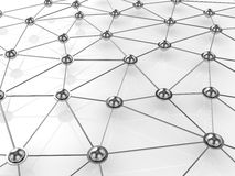 Abstract connection network concept Stock Photo