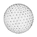 Abstract connection web sphere with spot and lines 3D rendering. Abstract connection web sphere with spot and lines on white background 3D rendering Stock Photo
